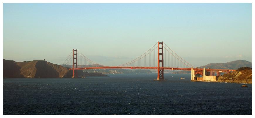 Golden Gate im Abendlicht