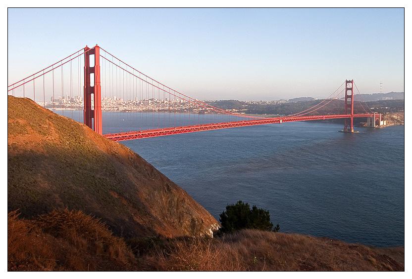 Golden Gate in der Abendsonne