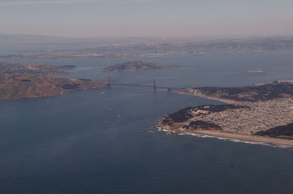 Golden Gate view - take off to Hong Kong