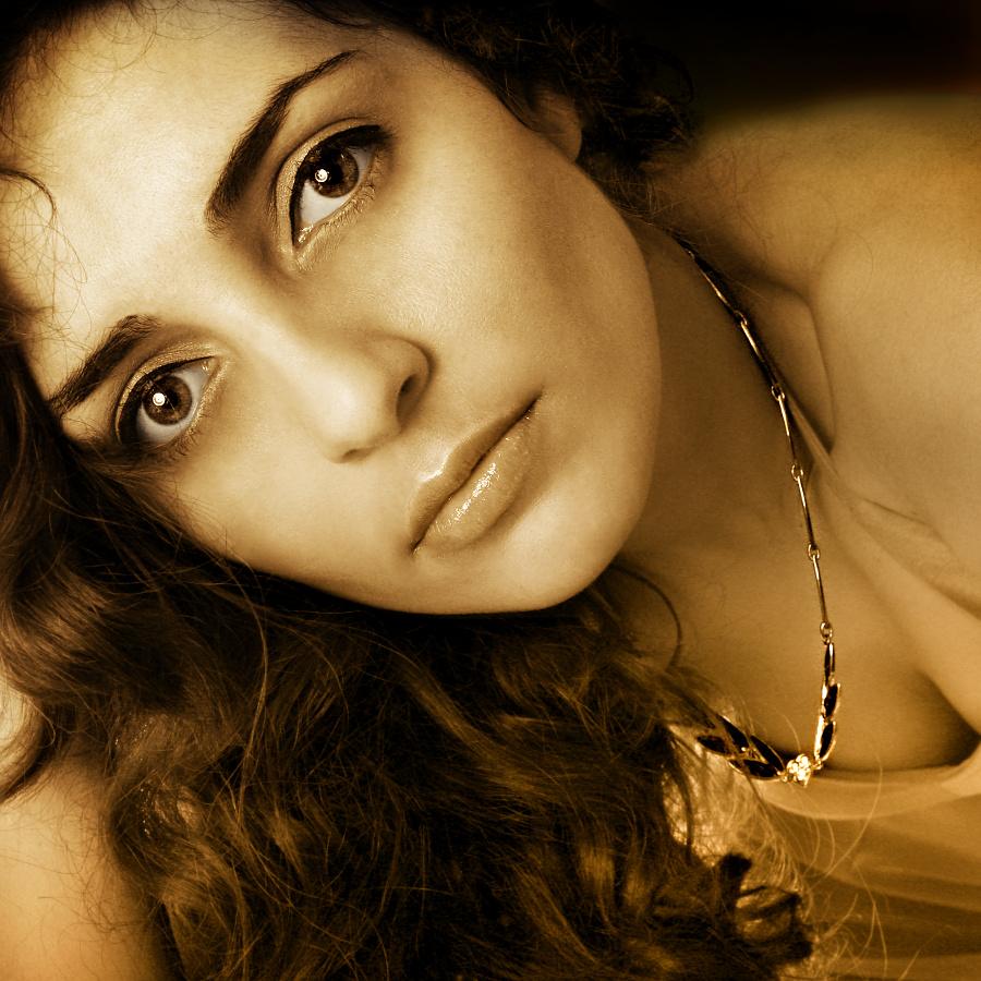 - golden necklace -