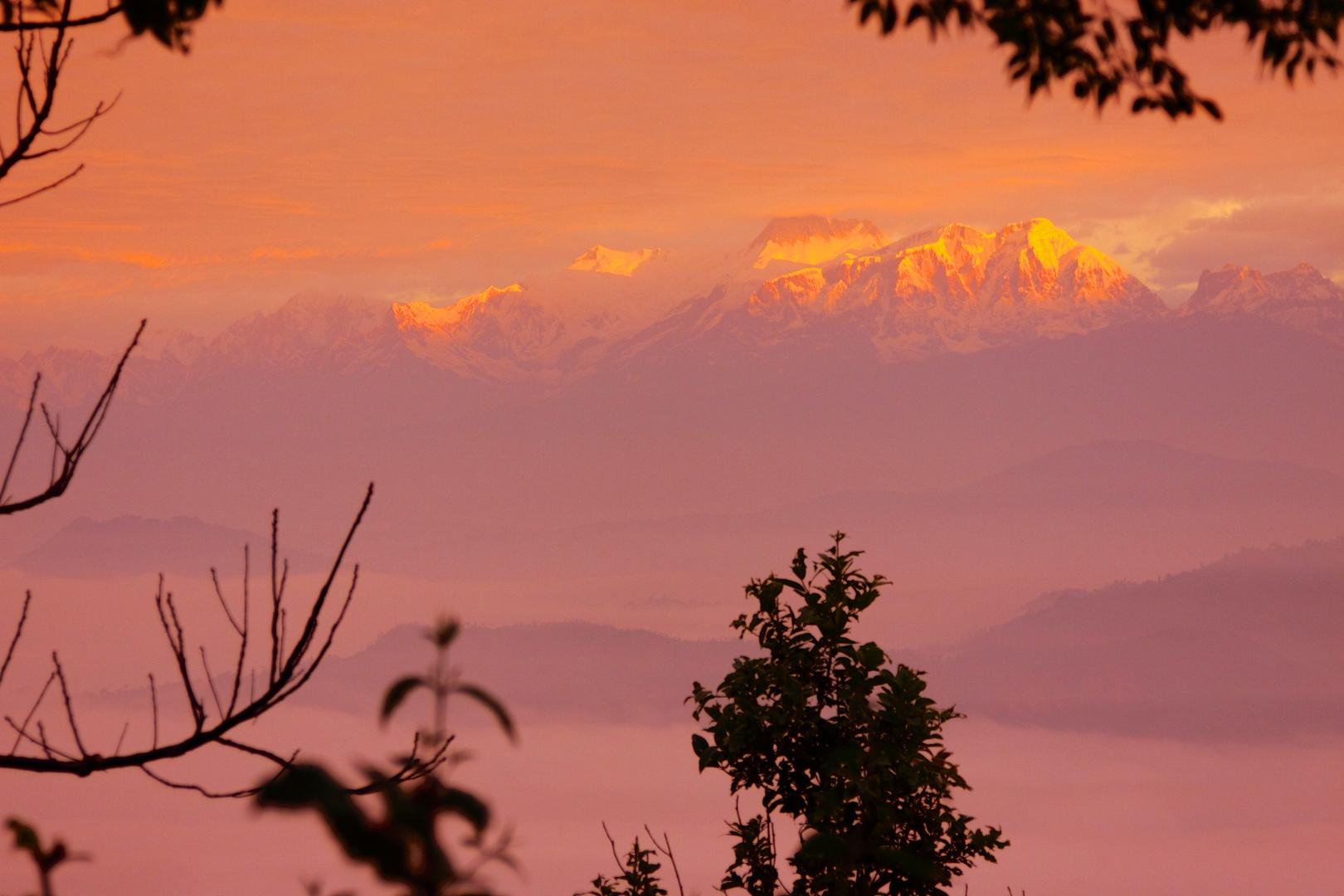 Golden Sunrise at Anapurna, Nepal