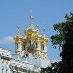 goldene Kuppeln - die Schloßkirche am Katharinenpalast