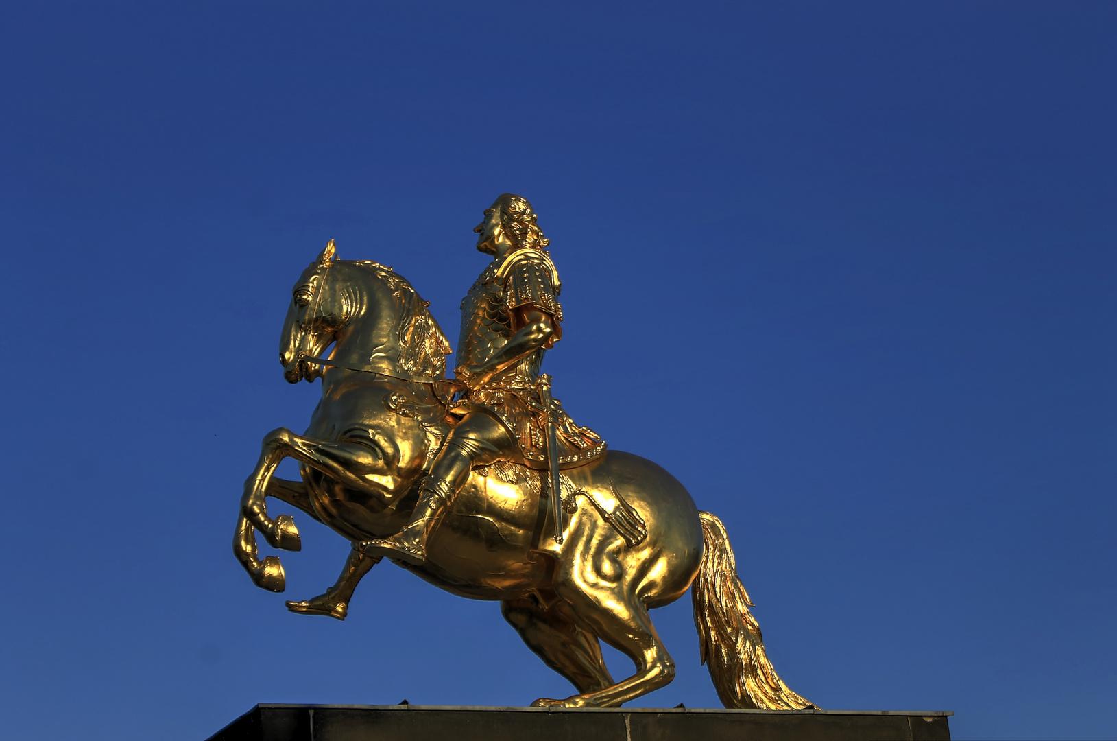 Goldene Reiter Dresden Foto Bild Architektur Stadtlandschaft