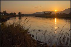 Goldene Stunde am Weserfluss...