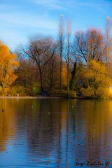 Goldenen Herbst in Englischgarten -001