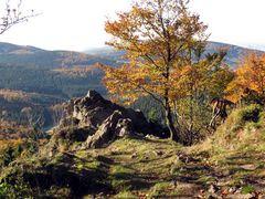 Goldener Herbst am Reitstein, Rennsteig Inselsberg