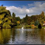 goldener herbst im elisabethpark in bad liebenstein