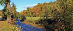 Goldener Herbst im Müglitztal am letzten Sonnabend...