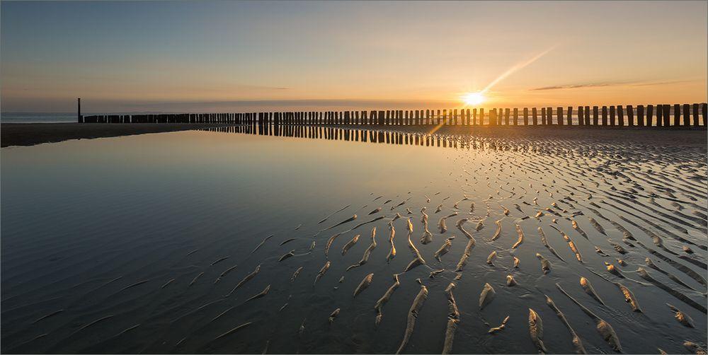 Goldener Morgen am Strand