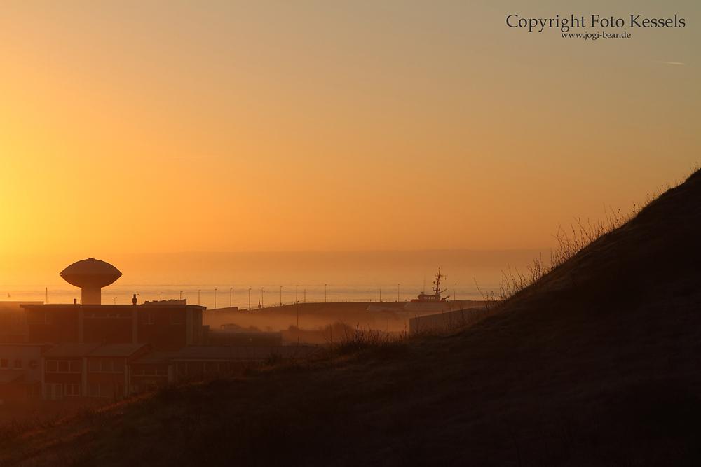 Goldener Morgen auf Helgoland