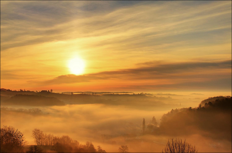 Goldener Nebel