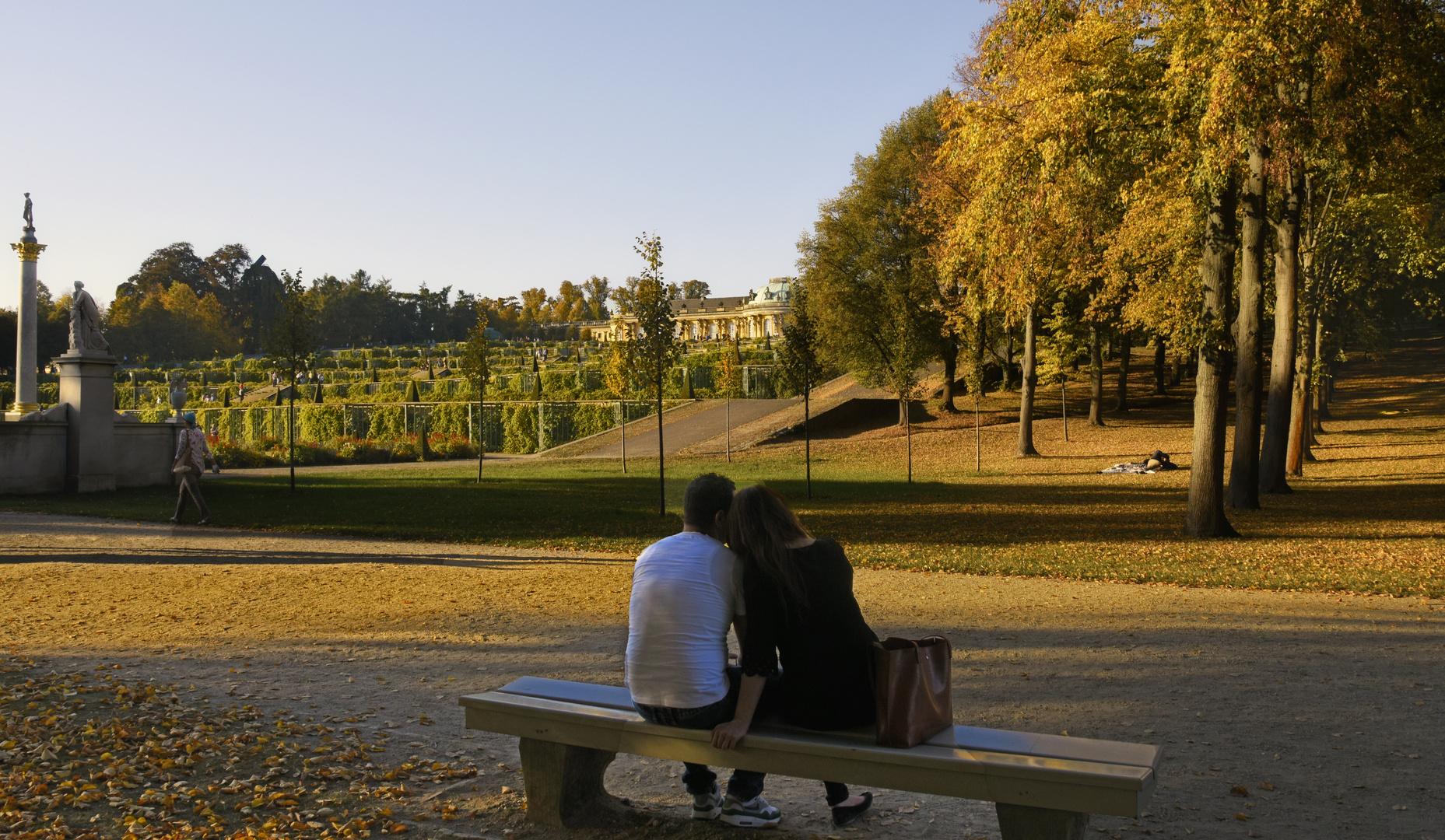 Goldener Oktober im  Schlosspark Sanssouci Potsdam