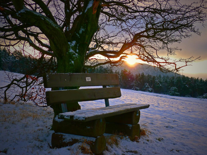 Goldener Winterabend