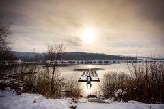 Goldener Wintertag