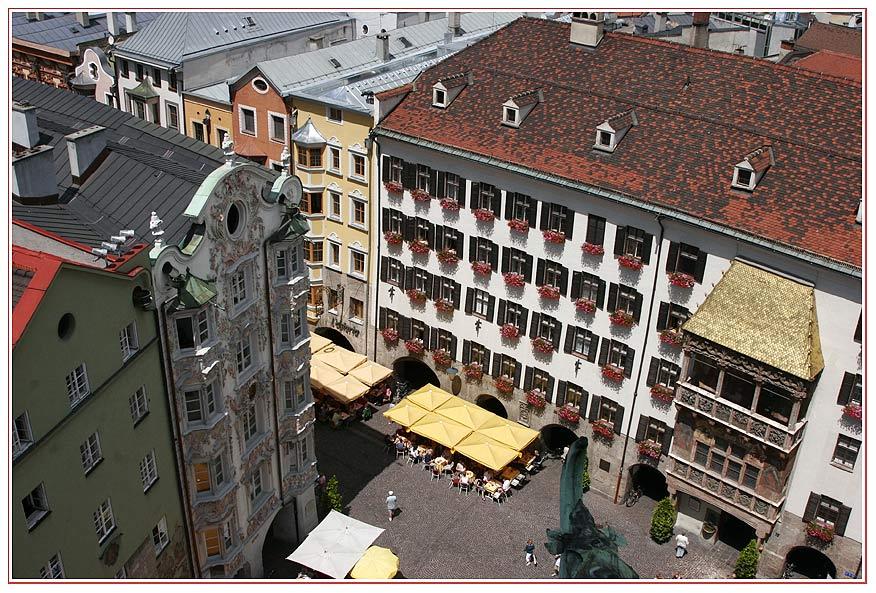 Goldenes Dachl vom Stadtturm in Innsbruck/Tirol
