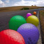 Golf balls on the street
