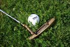 Golfball im Klee