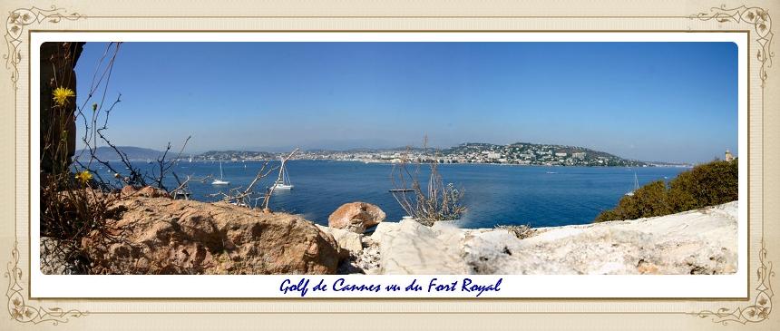Golfe de Cannes vu de Fort Royal