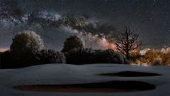 Golfplatz unter Sternen