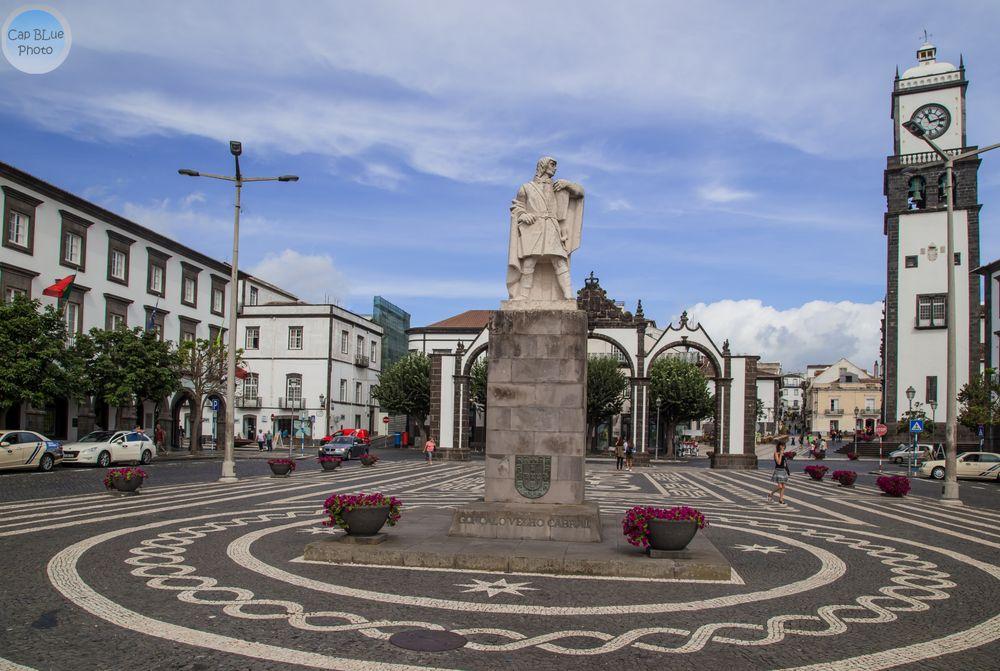 Gonçalo Velho Cabral Statue des Seefahrers und Kommandant des Christusordens