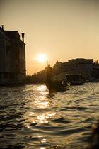 Gondola im Sonnenuntergang