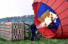 Gonflage de montgolfière