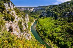 Gorges de l'Ardèche, Rhône-Alpes, Frankreich