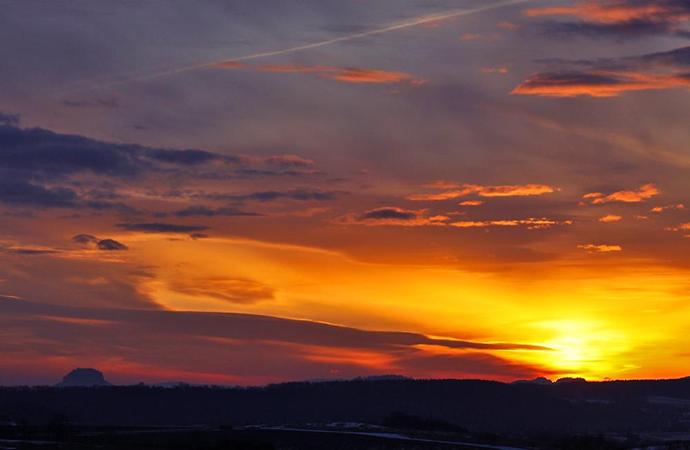 Gorisch und Papststein standen an diesem schönen Morgen des 22.02. 10...