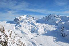 Gornergletscher und Grenzgletscher