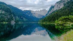 Gosauersee mit Dachsteingletscher