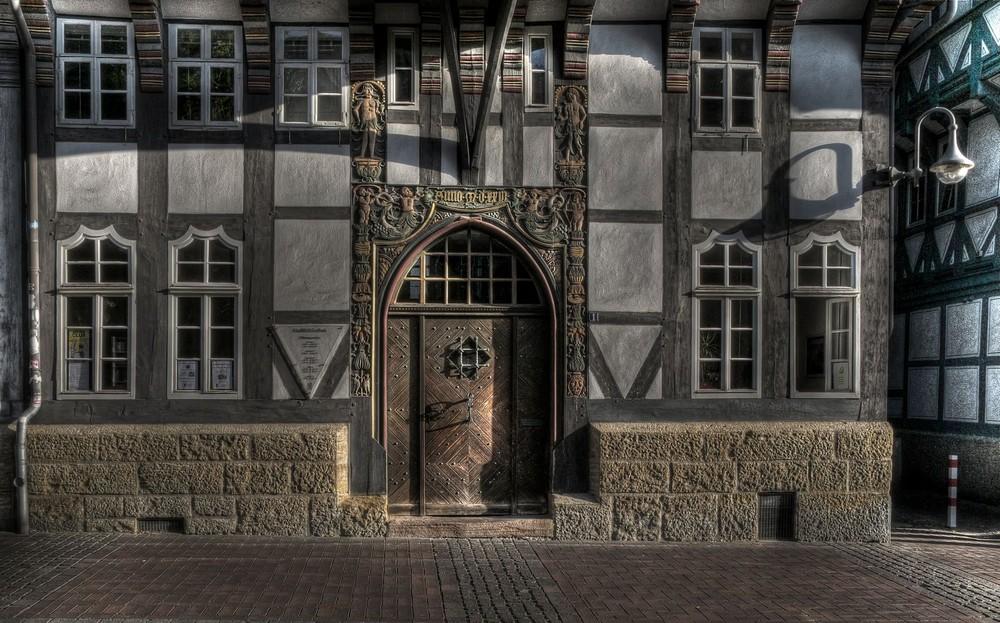"""Goslar-Altstadt-Mitte """" schöne Fassade der Stadtbibliothek """""""