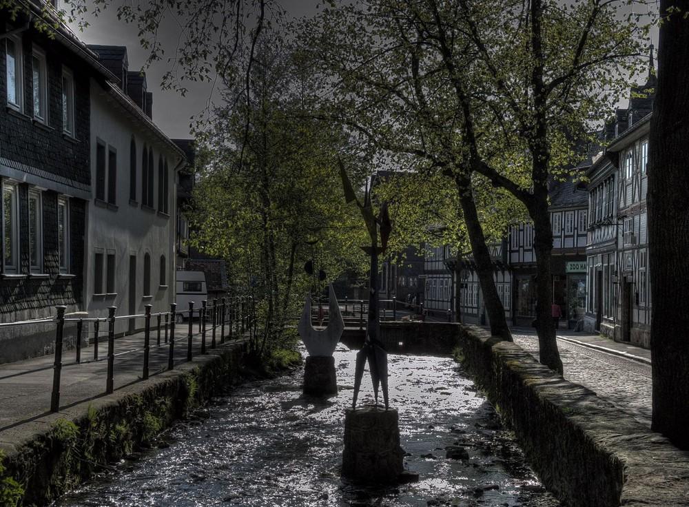 Goslar- die Abzucht im Gegenlicht