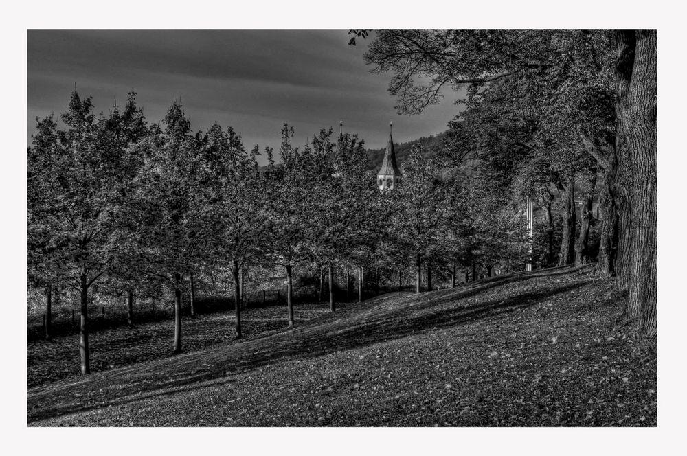 """GosLar- Georgenberg """" Blick auf die Neuwerkkirche, am Morgen """""""