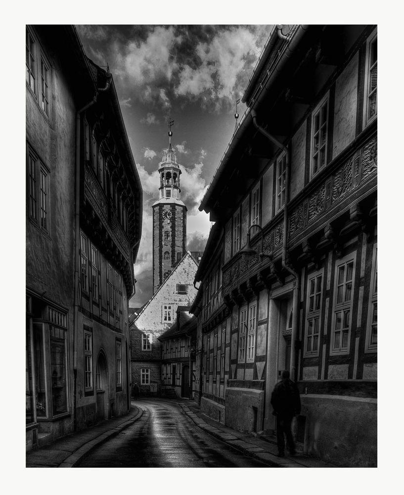 """GosLar - Ober- Stadt """" Blick auf die Marktkirche """""""
