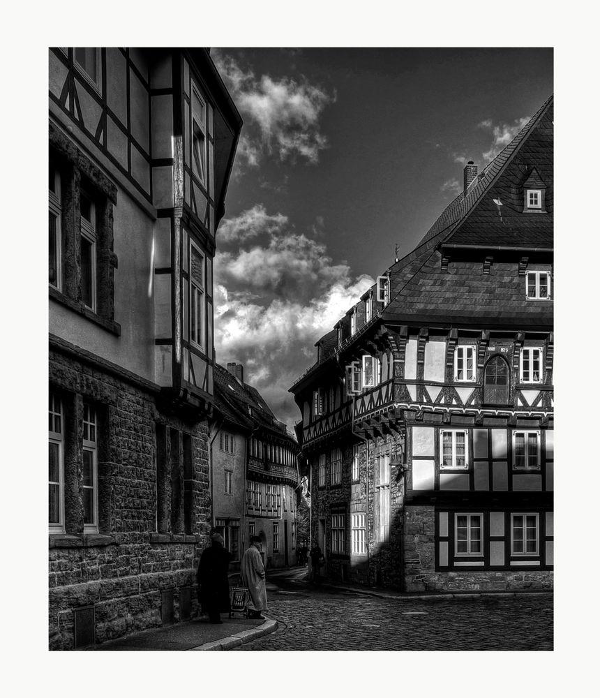 """GosLar -Ober- Stadt """" schönes Fachwerkhaus von 1521 in der Abendsonne """""""