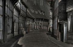 """Goslar-Oberstadt """" Morgenidylle in der Peterstraße, mit schönen Fachwerkhäusern """""""