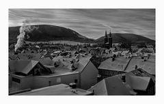 """GosLar - Stadt- Mitte """" Blick auf die Altstadt, und die Marktkirche zu GosLar, am Frühenmorgen """""""
