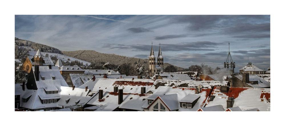 """Goslar- Stadt-Mitte, """" Blick auf die Stadt, am Frühenmorgen """""""