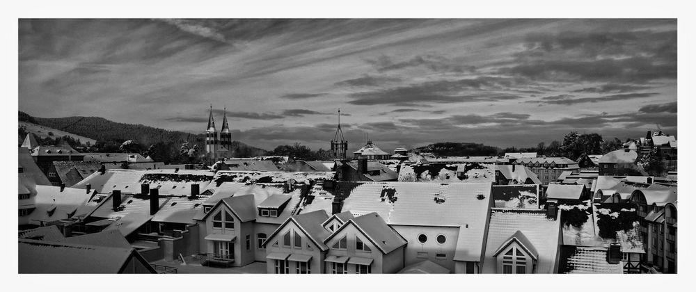 """Goslar Stadt - Mitte """" Blick zur Neuwerkkirche, und zum Turm der alten Post """""""