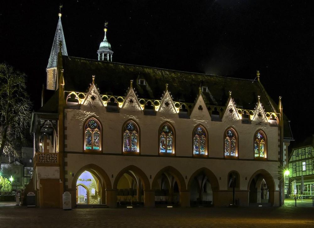 """Goslar-Stadt-Mitte """" das Rathaus bei Nacht """""""