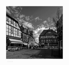 """GosLar - Stadt - Mitte """" der Blick von der Marktstrasse, früh Morgens """""""