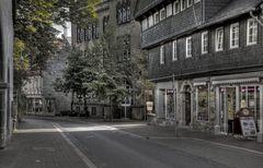 """Goslar-Stadt-Mitte """" der Hoheweg, mit kleinen Geschäften """""""