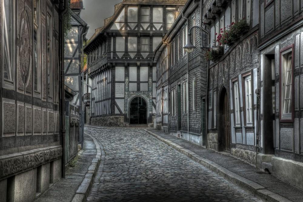 """Goslar - Stadt - Mitte - Nord """" untere Jakobistrasse, mit Blick zum Mönchehaus """""""