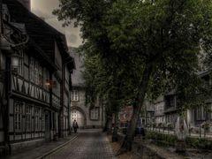 "Goslar-Unter-Stadt "" Entlang der Abzucht, kurz vor Sonnenuntergang """