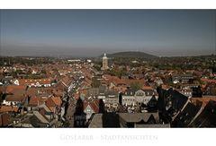 """GosLarer Impressionen """" Blick, vom Nordturm der Marktkirche auf die Altstadt """""""