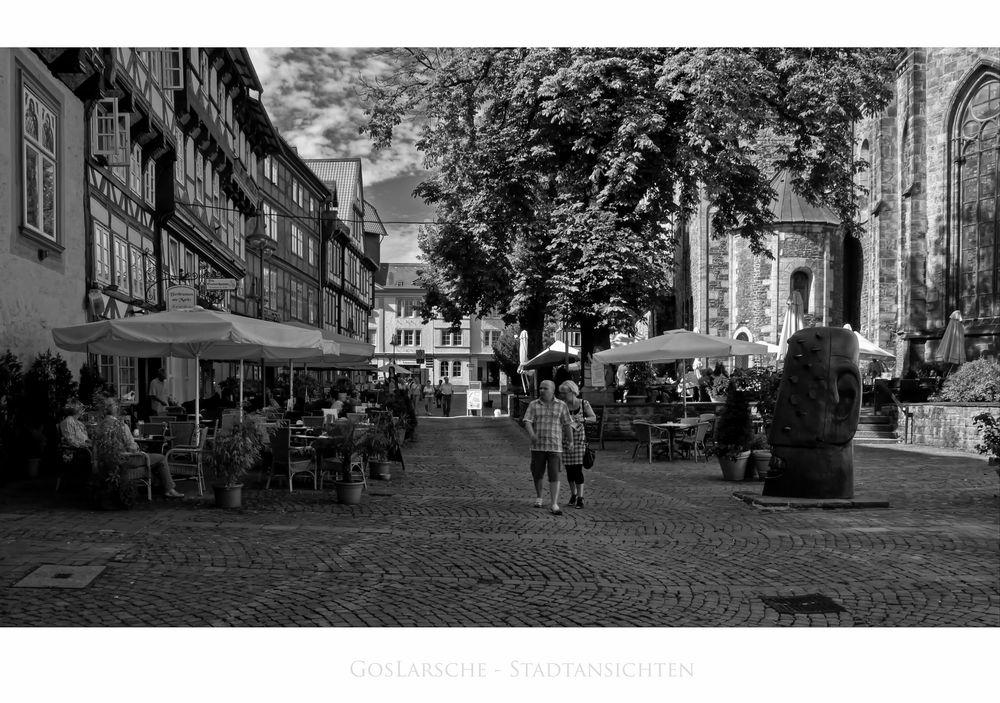 """GosLarsche Impressionen """" der Blick, zum Marktkirchhof und dem Nagelkopf """""""