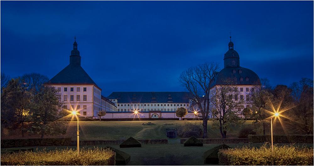Gotha das Schloß Friedenstein in der Nacht