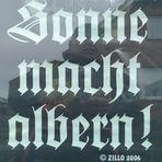 Gothic - Autobesitzer haben einen besonderen Humor. ;)