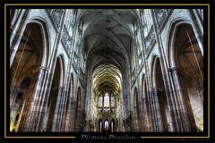 Gotische Säulenarchitektur