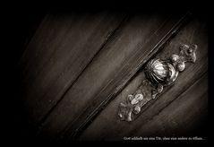 .Gott schließt nie eine Tür, ohne eine andere zu öffnen.